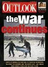 Cover of Outlook magazine showing video grab of IAF personnel salvaging the wreckage