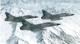 3 IAF Mirage-2000H flying over the himalayas (Cannot Be Enlarged)